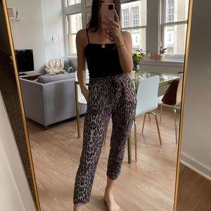 Zara Leopard Jogger Pants